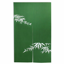 "Japanese 60"" Green Bamboo ""TAKE"" Doorway Room Divider Curtain Tapestry Noren"