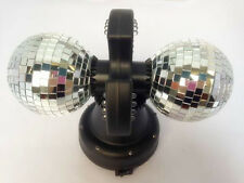 Twin Mirror Rotating Disco Ball DJ Party LED Light Lamp