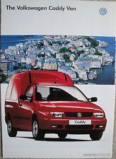 Volkswagen VW Caddy Van Brochure 1997 Model Year dated 1996