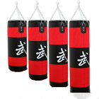 Training Fitness MMA Boxing Heavy Sand Punching Bag With Chain Unisex(Empty) X01