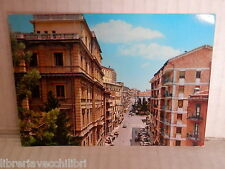 Vecchia cartolina foto d epoca di POTENZA VIA VACCARO CORSO 18 AGOSTO PALAZZI