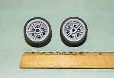 Lego Parts Pieces Wheel Gray #56145 & Tire 37 x 22    LOT of 2   #LX100