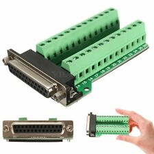 DB25 25 pins Female Adapter RS-232 Port Interface Breakout Board Connector Plus