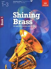 ABRSM Shining Brass Part Learn to Play Horn Tuba Music Book 1 & CD Grades 1-3