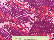 Pink Pinks Dark Purple Snake Skin Flannel Fabric   BTY   (J2) ^