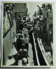 "Original Period World War II Photo ""Doomed Coast Guard-Manned De Back In Action"""