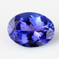 RARE TOP-QUALITY 6x4mm OVAL-FACET PURPLE/BLUE NATURAL TANZANITE GEM (APP £200)