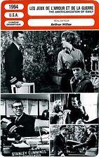 Fiche Cinéma. Movie Card. Les jeux d'amour et de la guerre (USA) 1964