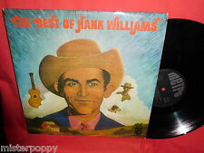 HANK WILLIAMS The best of LP GERMANY 1970s EX+
