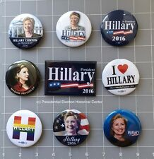 Hillary Clinton Set of 9 Best Seller Campaign Buttons - Buttons measure 2.25""