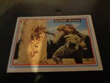 1953 Topps Fighting Marines 5 Bayonet Practice Vintage Trading Card VG Condition