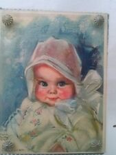 Maud Tousey Fangel Litho Print Baby Bunting Steampunk Hardware Glass Framed