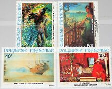 FRENCH POLYNESIA POLYNESIEN 1983 390-93 C202-05 Paintings Gemälde Kunst Art MNH