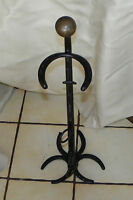 Black Painted  Horseshoe and Harness Ashtray Stand  (HD63)