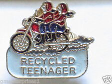 Vintage Recycled Teenager Retired Senior Citizen Motorcycle Pin Badge (#057)