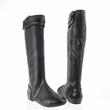 Max Studio Draping Women's Shoes Black Leather Tall Boots Sz 6.5 M NEW RTL $378