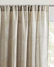 Serena and Lily Lucia Linen Window Panel, 50 x 108, Flax w/Silver, Sheer - NIP