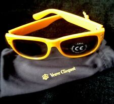 VEUVE CLICQUOT CHAMPAGNE YELLOW  SUNGLASSES   IN VC BRANDED BAG