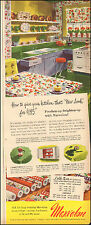 1949`Vintage ad for Marvalon`Plastic`Wall covering, drawer lining , red (090115)