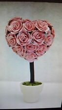 Natural Paper Rose Flower Mini Heart Topiary Party Supplies Wedding Favor Decor