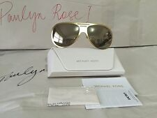 Michael Kors MK5011 Sunglasses Clementine1 Satin Gold Color + White Case NWT