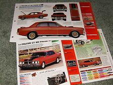RARE-1971-72 FORD FALCON GT HO III SPEC INFO POSTER BROCHURE