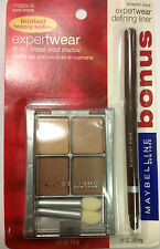 Maybelline ExpertWear Quad Eye Shadow SUNLIT BRONZE WITH GIFT LINER NEW.
