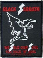 "Black Sabbath "" We sold our Soul for Rock'n Roll "" Patch/Sew-on Patch 602315 #"