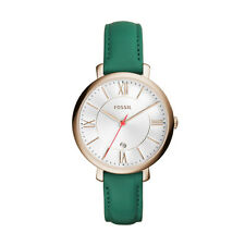 Fossil ES4149 Jacqueline Gold-Tone and Green Leather Strap  Watch