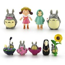 New 9PCS Hot My Neighbor Totoro & Spirited Away Mini Figure Collection Set
