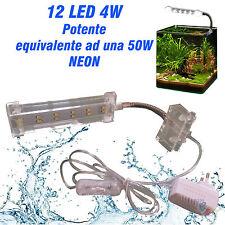 LAMPADA LED ACQUARIO PLAFONIERA  ILLUMINAZIONE 4W CUBO NANO PIANTE PESCI