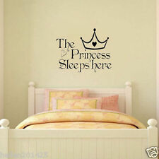 Girl Princess Removable Wall Sticker Word Nursery Baby Room Decor Decal Art