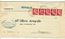 Z12026-LOMBARDIA, NOVIGLIO, UFFICIO ANAGRAFE, 1945