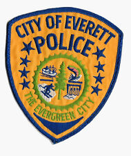 POLICE PATCH PD CITY OF EVERETT WASHINGTON EVERGREEN BOAT SKIING FISHING DAM
