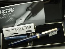 Japanese FP PLATINUM #3776 CENTURY CHARTRES BLUE 14K Medium-nib with Converter