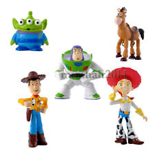 5Pcs Toy Story 3 Figure Buzz Lightyear Woody Figures Doll Set Christmas Gift B1