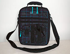 OAKLEY ~ Vertical Messenger Bag Satchel ~ Padded Laptop ~ Plaid Design ~ RARE