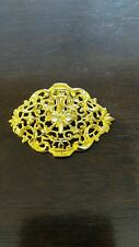 Gold tone collar clip (brooch), West Germany C