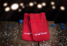 """Geschenksäckchen """" Ich hab dich lieb """" Schmuckbeutel 2Münzsack Velours Weihnacht"""