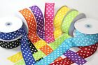 Polka Dot Grosgrain Ribbon 1.5 inch x 1 yard (3 ft of cut ribbon) YOU PICK COLOR