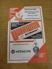 12/02/1980 Football League Cup Semi-Final: Liverpool v Nottingham Forest  . Item