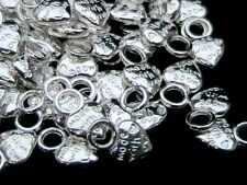 "100 x 14mm Tibetan "" Bright "" Silver Made With Love Charms Beads Jewellery P116"