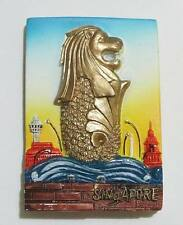 ▓ SINGAPORE SQUARE MERLION GOLD (MGS10) FRIDGE / REF MAGNET COLLECTIBLE SOUVENIR