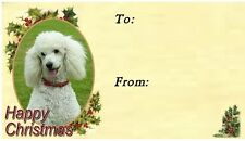 Poodle Christmas Labels by Starprint - No 3
