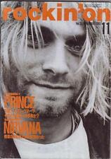 Rockin'on Japan Nov/93 Nirvana Kurt Cobain on Cover Prince Special