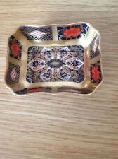 ROYAL CROWN DERBY 'Imari 1128' Solid Gold Band Trinket Dish, Excellent Condition
