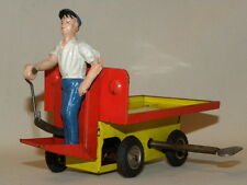 JOUET TOLE CHARIOT DE GARE A BAGAGES TIN TOY LUGGAGE CART ARNOLD TIPPCO BING JEP