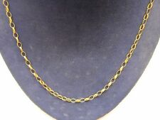 SOLID 9Carat YELLOW GOLD 20 INCH 3 MM BELCHER CHAIN NECKLACE HALLMARKED BOXED