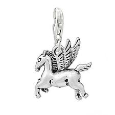 Pegasus Horse with Wings Clip on Pendant Charm for Bracelet or Necklace