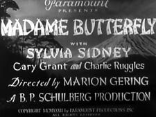 MADAME BUTTERFLY (DVD) - 1932 - Sylvia Sidney, Cary Grant